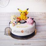 Tort trzy Pokemony - Pikachu Clefairy i Togepi