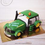 Tort zielony traktor