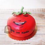 Tort w kształcie pomidora