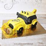 Tort żółta koparka