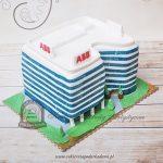 Tort w kształcie biurowca AXIS w Krakowie