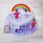 Tort z tęczą i kucykami Pony