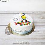 Tort zdobiony drażami z bohaterem bajki Caillou _Kajtuś