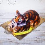 Tort tygrys malowany aerografem