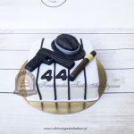 190BA Tort mafijny z kapeluszem, pistoletem i cygarem
