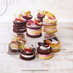 Naked minicakes - biszkoptowe minitorciki z owocami