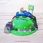 Para w samochodzie - tort na wspólne urodziny