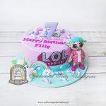 Tort z laleczką i jednorożcem LOL Surprise