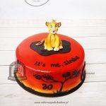Tort KRÓL LEW z figurką Simby