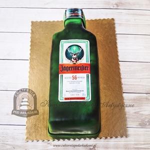 Tort butelka likieru Jägermeister