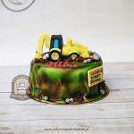 Tort z koparką - roboty drogowe