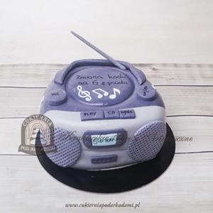 296BA Tort w kształcie boomboxa