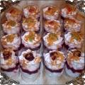 20 Deserki owocowe w kieliszkach na bankiet lub wesele