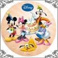 83 Opłatek postacie z bajki Disneya z tortem,Pluto, Guffi , myszka Miki , Minnie , Mickey Mouse