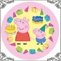 096 Opłatek świnka Peppa i brat George torciki świeczki