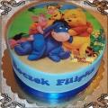 1 tort z opłatkiem jadalnym Kubuś Puchatek i przyjaciele Winnie-the-Pooh cake
