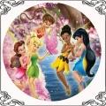 13 Dzwoneczek opłatek na tort 5 wróżek Tinker Bell Disney Fairies cake