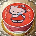 14 Tort z Hello Kitty w serduszka fototort