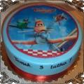 30 Opłatek na tort 3 samoloty Disneya