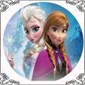 36 Opłatek na tort księżniczki z Krainy Lodu Elsa i Anna