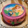 44 Tort księżniczka Bella w ogrodzie  z różami