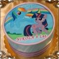 46 Tort z Kucykami Pony fototort Rainbow Dash i Twilight Sparkle