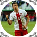 49 Opłatek piłkarz Lewandowski sport piłka