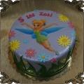 54 Tort dzwoneczek na opłatku fototort kwiatki na 5 urodziny. Tinker Bell Cake