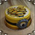 69 Tort minionki z okiem fototort z grafika