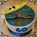 78 Tort z kajakiem na 60 urodziny pana fototort opłatek