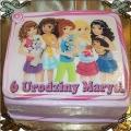 8 Tort przyjaciółki z Lego  org. Lego Friends cake