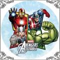81 Opłatek na tort Avengers superbohaterowie, Kapitan Ameryka,Hulk, Iron Man,Thor