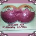 1 Tort piersi w różowym staniku na wieczór kawalerski Cukiernia Pod Arkadami Kraków