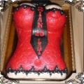 6 Tort czerwony gorset z krawatem na osiemnaste urodziny Cukiernia Pod Arkadami Kraków