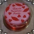 71 Tort usta serca różowy tort na wieczór panieński