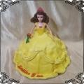 103 Tort Bella księżniczka Disneya  żółta suknia róża