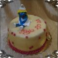 109 Tort  smerfetka figurka z lukru na 20 urodziny