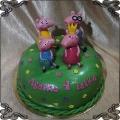 121Tort Świnka Peppa  Brat George tata i mama świnka figurki z lukru