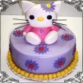 13 Tort dla dzieci fioletowy kotek Hello Kitty Cukiernia Pod Arkadami Kraków