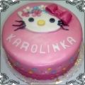 18 Tort dla dziecka z głową Hello Kitty Cukiernia Pod Arkadami Kraków
