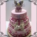 20 Tort piętrowy z Hello Kitty różowy Cukiernia Pod Arkadami Kraków