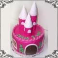 32 Tort dla dziewczynki zamek różowy z wieżyczkami Cukiernia Pod Arkadami Kraków