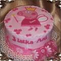 39 Tort dla dzieci świnka Pappa na różowym tle Cukiernia Pod Arkadami Kraków