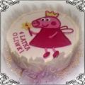 41 Tort dla dzieci ze świnką Peppa w dekoracji z białej czekolady Cukiernia Pod Arkadami Kraków