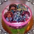 84 Tort Monster High pięć strasznych lalek
