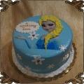 99 Tort księżniczka Elza z krainy lodu z warkoczem na płasko Frozen Cake