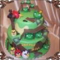 1 Tort Angry Birds piętrowy ptaszki i świnki Cukiernia Pod Arkadami Kraków