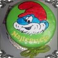 143 Tort Papa Smerf  z bajki Smurfs