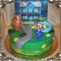 147 Tort Niedźwiedź w dużym niebieskim domu