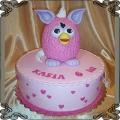 149 Tort różowy Furby na 6 urodziny